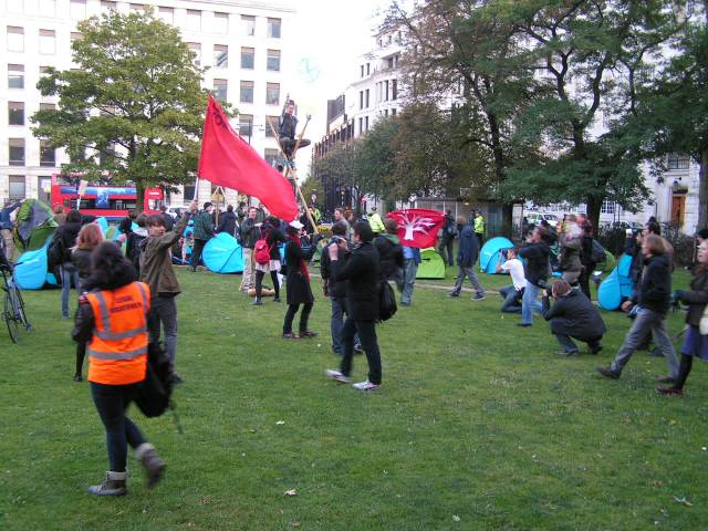Finsbury Square occupied